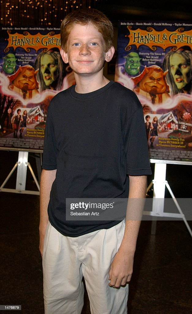 Actor Austin Stout arrives at the premiere of the movie 'Hansel & Gretel' on October 14, 2002 in Los Angeles, California.