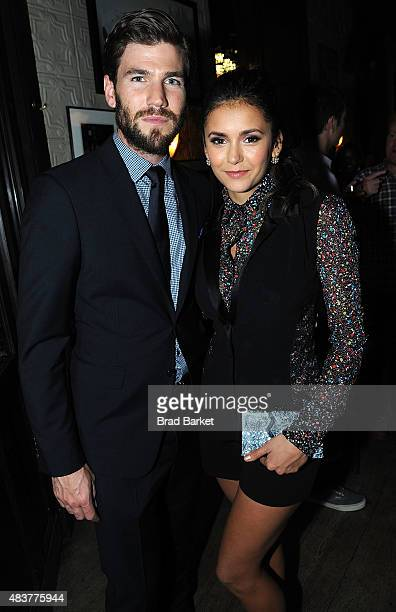 Actor Austin Stowell and Nina Dobrev attend The NYMag Vulture TNT Celebrate the Premiere of 'Public Morals' on August 12 2015 in New York City