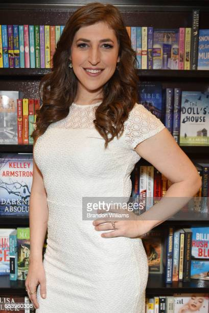 Actor / author Mayim Bialik attends her book signing for 'Girling Up How to Be Strong Smart and Spectacular' at Barnes Noble at The Grove on May 16...