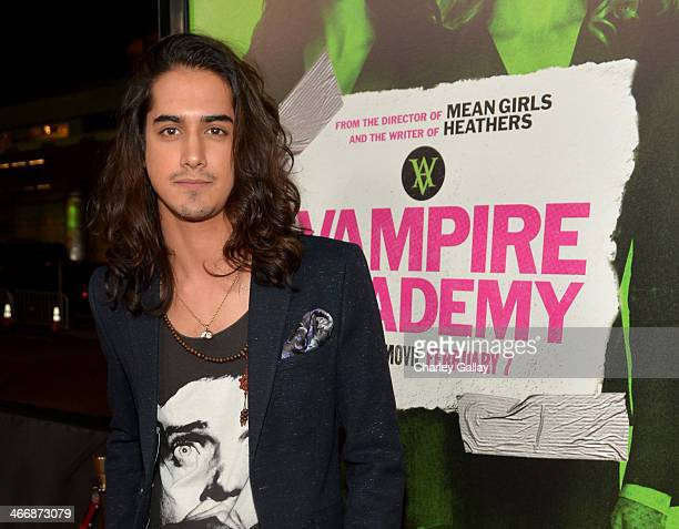 Actor Avan Jogia arrives at The Weinstein Company's premiere of 'Vampire Academy' at Regal 14 at LA Live Downtown on February 4 2014 in Los Angeles...