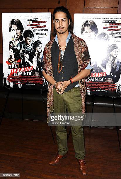Actor Avan Jogia attends the premiere of 'Ten Thousand Saints' at Piknic on August 11 2015 in Century City California