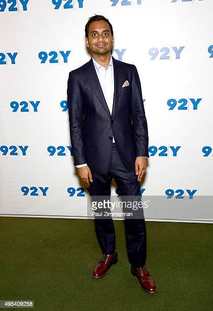Actor Aziz Ansari attends Aziz Ansari 'Master Of None' screening and conversation at 92nd Street Y on November 2 2015 in New York City