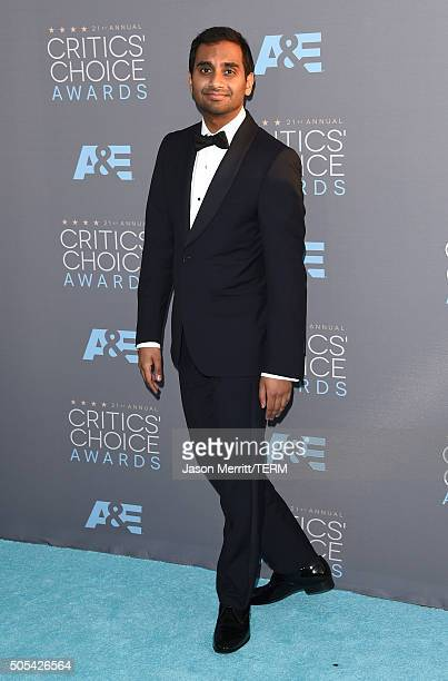 Actor Aziz Ansari attends the 21st Annual Critics' Choice Awards at Barker Hangar on January 17 2016 in Santa Monica California