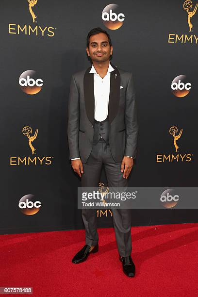 Actor Aziz Ansari attends the 68th Annual Primetime Emmy Awards at Microsoft Theater on September 18 2016 in Los Angeles California