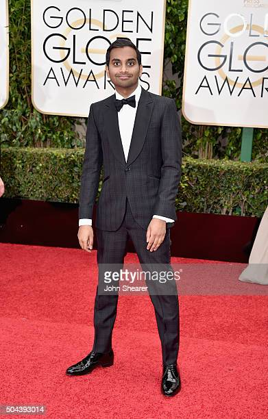 Actor Aziz Ansari attends the 73rd Annual Golden Globe Awards held at the Beverly Hilton Hotel on January 10 2016 in Beverly Hills California