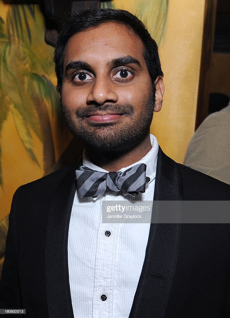 Actor Aziz Ansari attends the Band Of Outsiders Fashion Week Mens Collection After Party held at the Monkey Bar on February 7, 2013 in New York City.