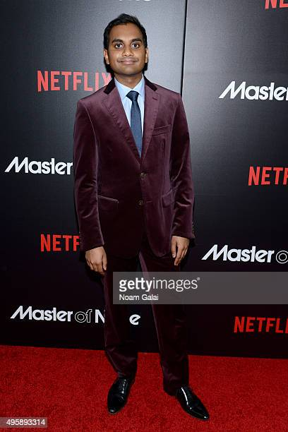 Actor Aziz Ansari attends the 'Master Of None' New York premiere at AMC Loews 19th Street East 6 Theater on November 5 2015 in New York City