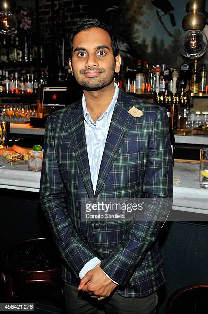 Actor Aziz Ansari attends the private dinner to celebrate Scott Sternberg and 10 Years of Band of Outsiders hosted by Barneys New York and Aziz...