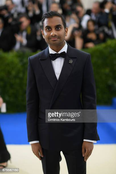 Actor Aziz Ansari attends the 'Rei Kawakubo/Comme des Garcons Art Of The InBetween' Costume Institute Gala at Metropolitan Museum of Art on May 1...