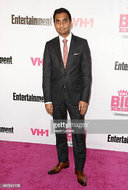 Actor Aziz Ansari attends the VH1 Big In 2015 with Entertainment Weekly Awards at Pacific Design Center on November 15 2015 in West Hollywood...