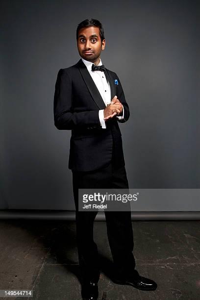 Actor Aziz Ansari poses for People Magazine on November 4 2011 in Los Angeles California