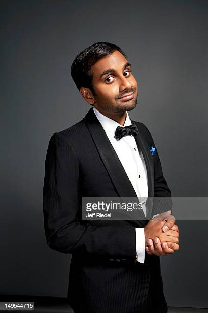 Actor Aziz Ansari poses for People Magazine on November 4 2011 in Los Angeles California