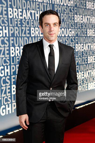 Actor B J Novak attends the 2016 Breakthrough Prize Ceremony on November 8 2015 in Mountain View California
