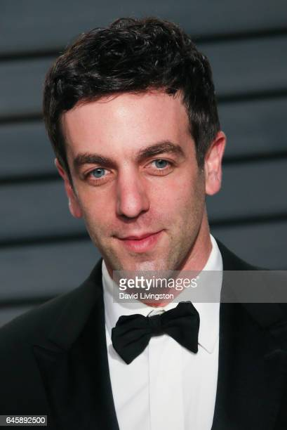 Actor B J Novak attends the 2017 Vanity Fair Oscar Party hosted by Graydon Carter at the Wallis Annenberg Center for the Performing Arts on February...