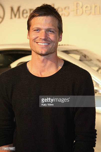 Actor Bailey Chase attends Mercedes Benz Fashion Week held at Smashbox Studios on March 19 2007 in Culver City California
