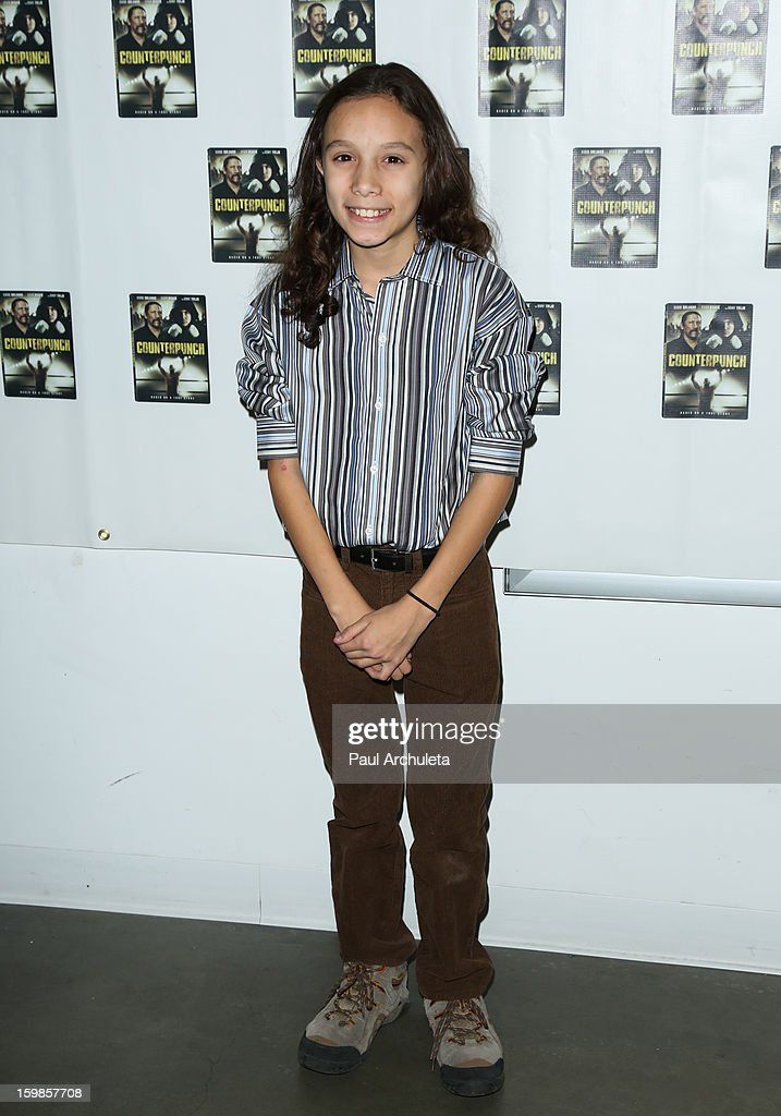 Actor Baily Garcia attends the Counterpunch screening at the Downtown Independent Theatre on January 20, 2013 in Los Angeles, California.