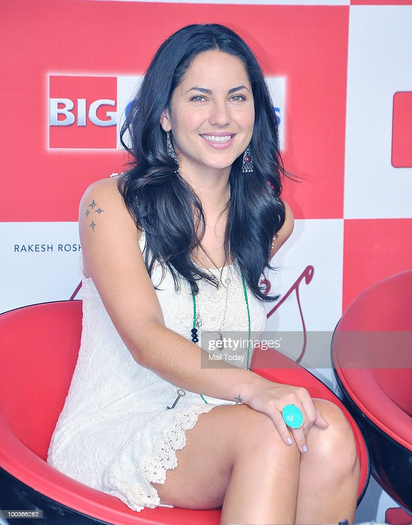 Actor Barbara Mori at a promotional event for the film Kites in Mumbai on May 22, 2010.