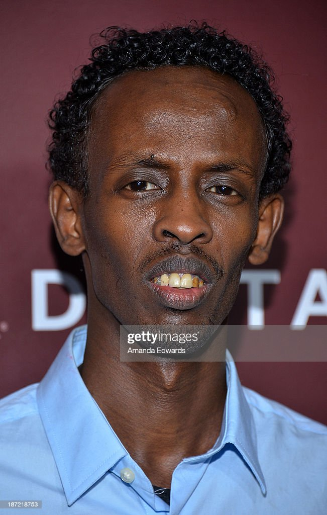 Actor <a gi-track='captionPersonalityLinkClicked' href=/galleries/search?phrase=Barkhad+Abdi&family=editorial&specificpeople=11418442 ng-click='$event.stopPropagation()'>Barkhad Abdi</a> arrives at The Hollywood Reporter's Next Gen 20th Anniversary Gala at the Hammer Museum on November 6, 2013 in Westwood, California.