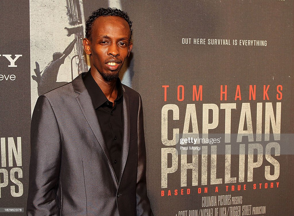 Actor <a gi-track='captionPersonalityLinkClicked' href=/galleries/search?phrase=Barkhad+Abdi&family=editorial&specificpeople=11418442 ng-click='$event.stopPropagation()'>Barkhad Abdi</a> arrives at the screening of 'Captain Phillips' at The Newseum on October 2, 2013 in Washington, DC.