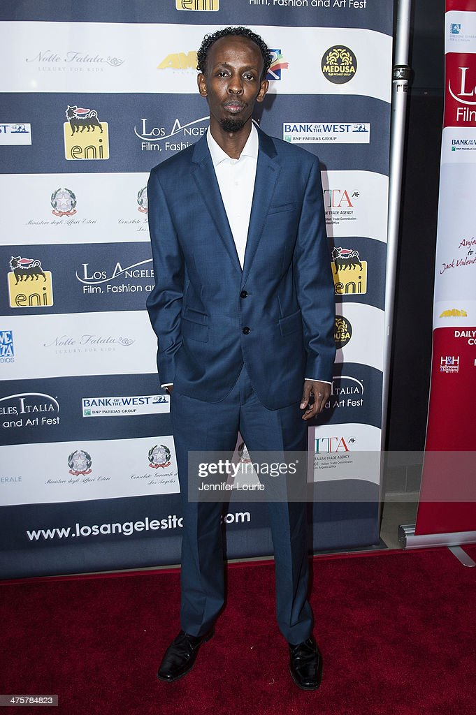 Actor Barkhad Abdi attends the 9th Annual L.A. Italia Film, Fashion and Art's Festival closing night awards ceremony hosted at the TCL Chinese Theatre on February 28, 2014 in Hollywood, California.