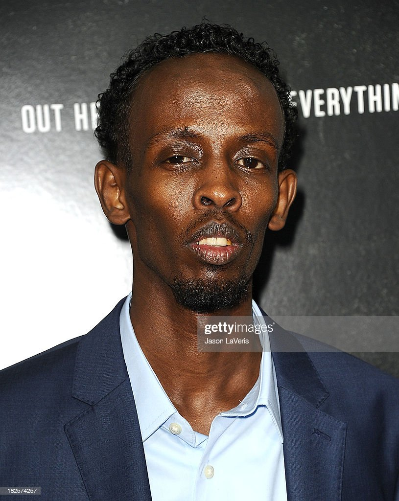 Actor Barkhad Abdi attends the premiere of 'Captain Phillips' at the Academy of Motion Picture Arts and Sciences on September 30, 2013 in Beverly Hills, California.