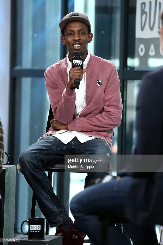 Actor Barkhad Abdi speaks on stage at Build Series Presents Evan Peters, Barkhad Abdi, Bryan Buckley, Jay Bahadur and Kiana Madani Discussing 'Dabka' at Build Studio on April 28, 2017 in New York City.
