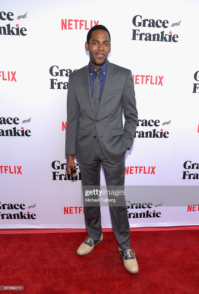 Actor Baron Vaughn attends the premiere of Season 2 of the Netflix Original Series 'Grace & Frankie' at Harmony Gold on May 1, 2016 in Los Angeles, California.