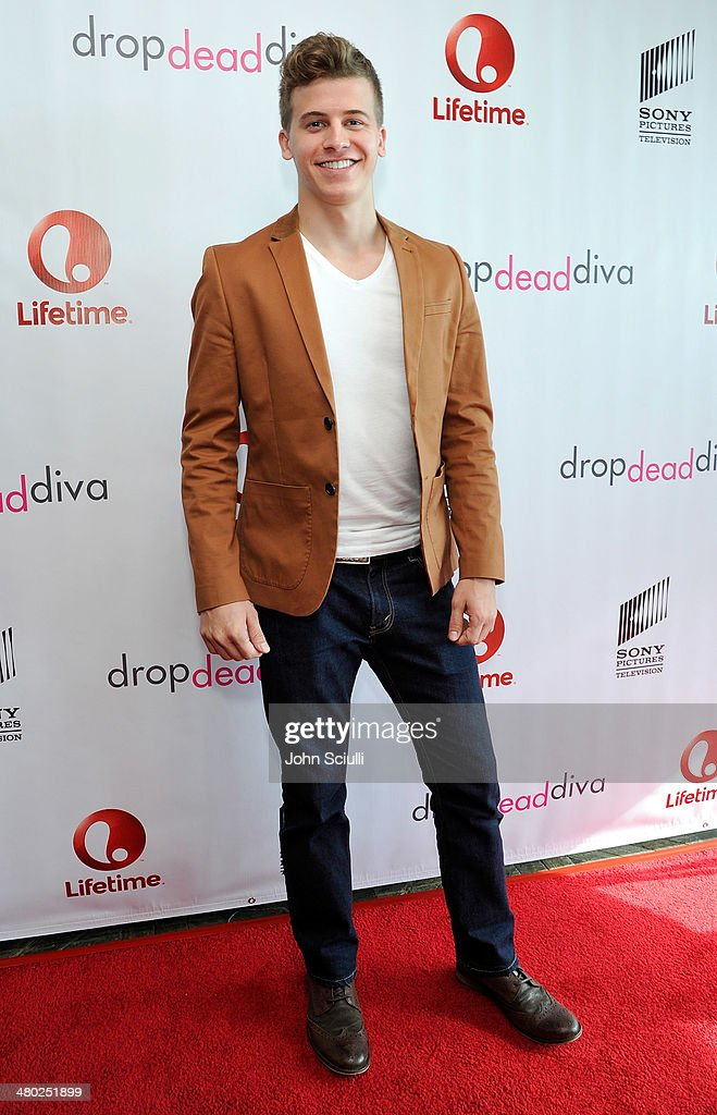 Actor Barrett Carnahan attends the 'Drop Dead Diva' final season premiere party on March 23, 2014 in West Hollywood, California.