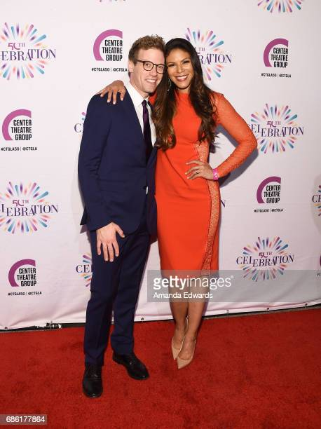 Actor Barrett Foa and actress Merle Dandridge attend the Center Theatre Group's 50th Anniversary Celebration at the Ahmanson Theatre on May 20 2017...