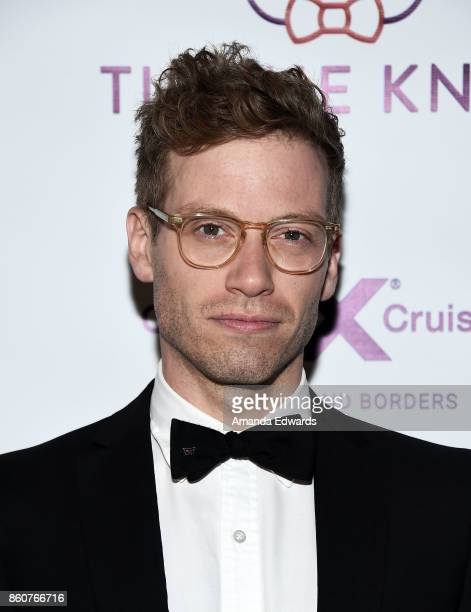 Actor Barrett Foa arrives at Jesse Tyler Ferguson's Tie The Knot 5Year Anniversary celebration at NeueHouse Hollywood on October 12 2017 in Los...