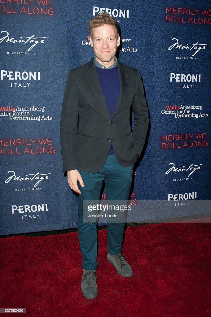 Actor Barrett Foa arrives at the Opening Night of 'Merrily We Roll Along' at the Wallis Annenberg Center for the Performing Arts on November 30, 2016 in Beverly Hills, California.