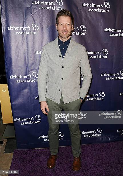 Actor Barrett Foa attends the 2016 Alzheimer's Association's 'A Night At Sardi's' at The Beverly Hilton Hotel on March 9 2016 in Beverly Hills...