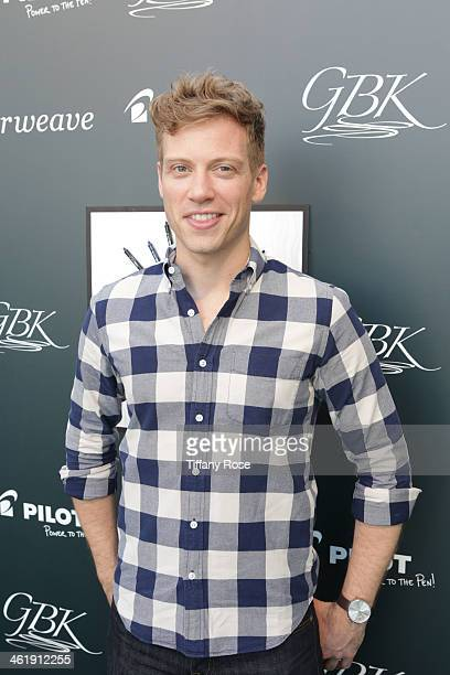 Actor Barrett Foa attends the GBK Pilot Pen PreGolden Globe Gift Lounge on January 11 2014 in Beverly Hills California