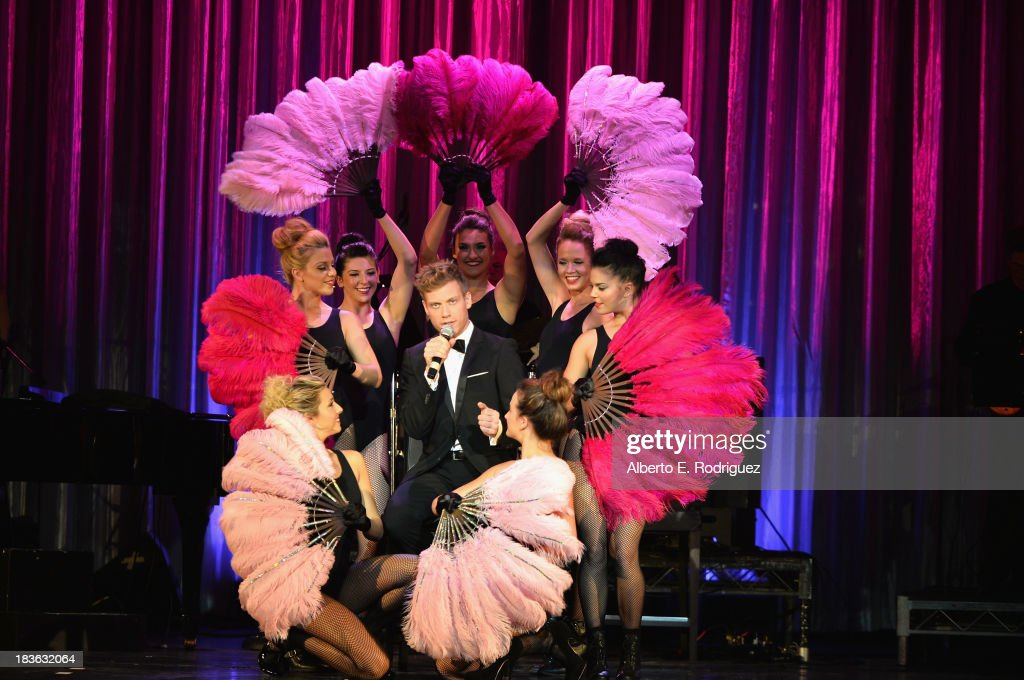 Actor <a gi-track='captionPersonalityLinkClicked' href=/galleries/search?phrase=Barrett+Foa&family=editorial&specificpeople=2258093 ng-click='$event.stopPropagation()'>Barrett Foa</a> attends The National Breast Cancer Coalition Fund presents The 13th Annual Les Girls at the Avalon on October 7, 2013 in Hollywood, California.