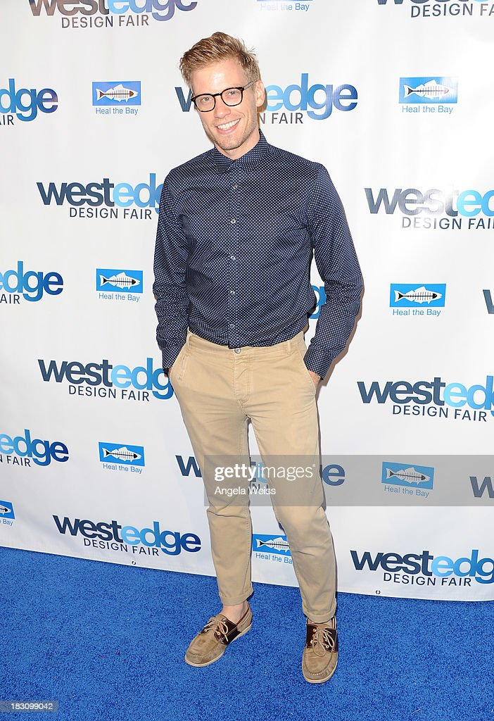 Actor Barrett Foa attends the WestEdge Design Fair opening night benefiting Heal the Bay at Barker Hangar on October 3, 2013 in Santa Monica, California.
