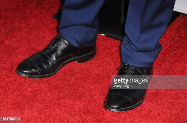Actor Barrett Foa shoe detail attends the 17th Annual 'Les Girls' at Avalon on October 15 2017 in Hollywood California
