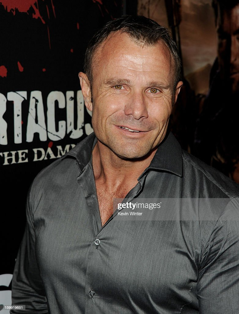 Actor Barry Duffield arrives at the premiere of Starz's 'Spartacus: War Of The Damned' at the Regal Cinemas L.A. Live on January 22, 2013 in Los Angeles, California.