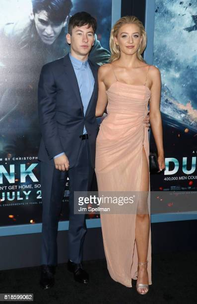 Actor Barry Keoghan and guest attend the 'DUNKIRK' New York premiere at AMC Lincoln Square IMAX on July 18 2017 in New York City