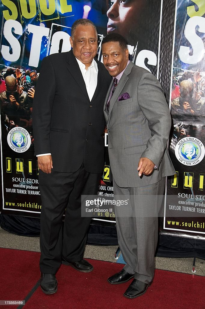 Actor Barry Shabaka Henley and Director Walt Whitman attend the premiere of 'Soul Children Of Chicago' at Historic American Legion - Post 43 on July 11, 2013 in Los Angeles, California.