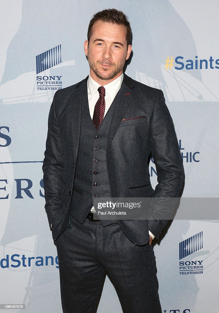 Actor <a gi-track='captionPersonalityLinkClicked' href=/galleries/search?phrase=Barry+Sloane&family=editorial&specificpeople=1892156 ng-click='$event.stopPropagation()'>Barry Sloane</a> attends the premiere of National Geographic Channel's 'Saints And Strangers' at the Saban Theatre on November 9, 2015 in Beverly Hills, California.