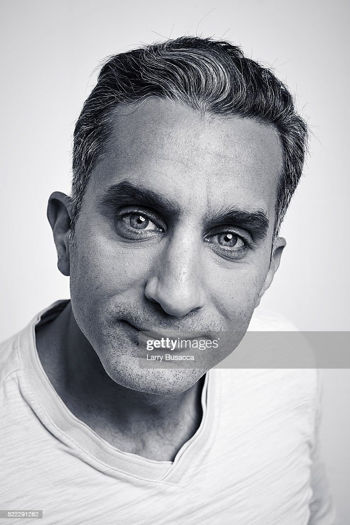 Actor Bassem Youssef from 'Tickling Giants' poses at the Tribeca Film Festival Getty Images Studio on April 17, 2016 in New York City.