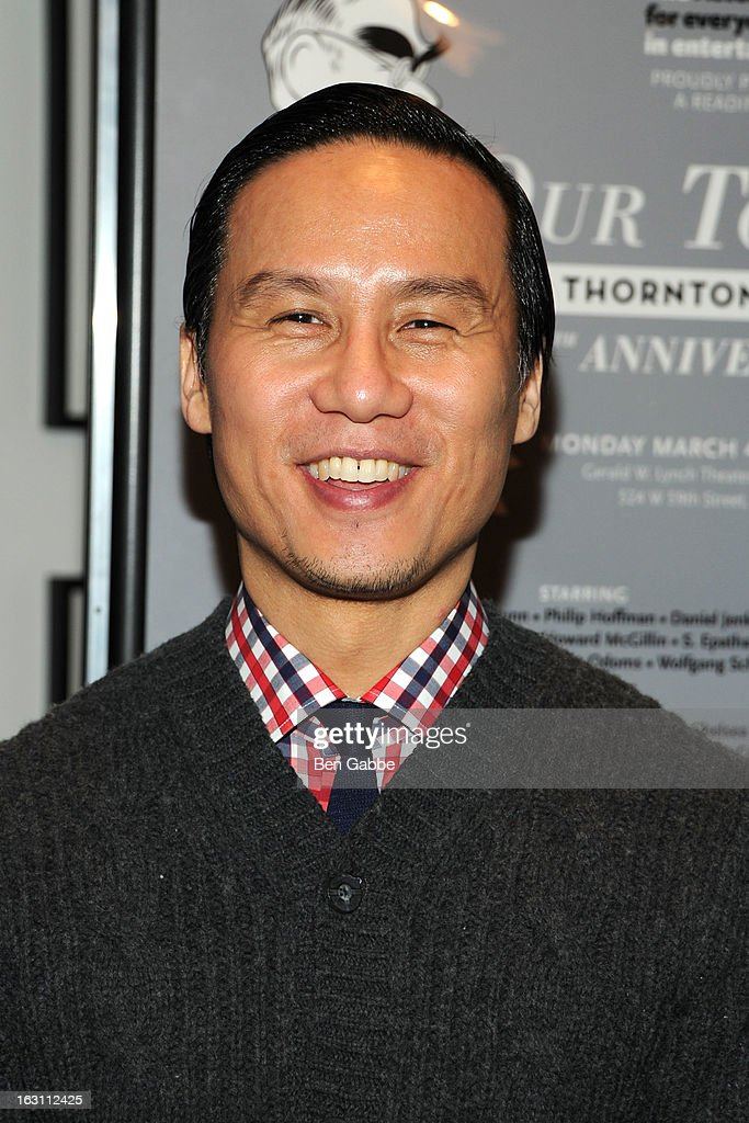 Actor BD Wong attends 'Our Town' Benefit Performance at the Gerald W. Lynch Theatre on March 4, 2013 in New York City.