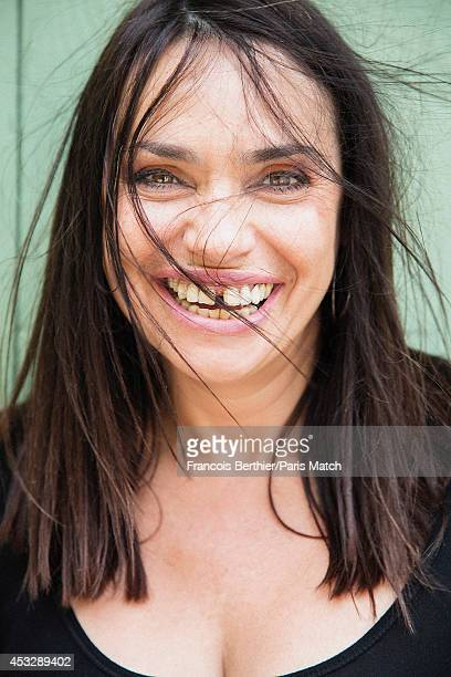 Actor Beatrice Dalle is photographed for Paris Match on July 22 2014 in Grignan France