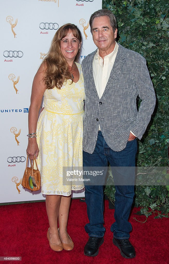 Actor Beau Bridges and Wendy Bridges arrive at the Television Academy's 66th Annual Emmy Awards Performers Nominee Reception at Spectra by Wolfgang Puck at the Pacific Design Center on August 23, 2014 in West Hollywood, California.
