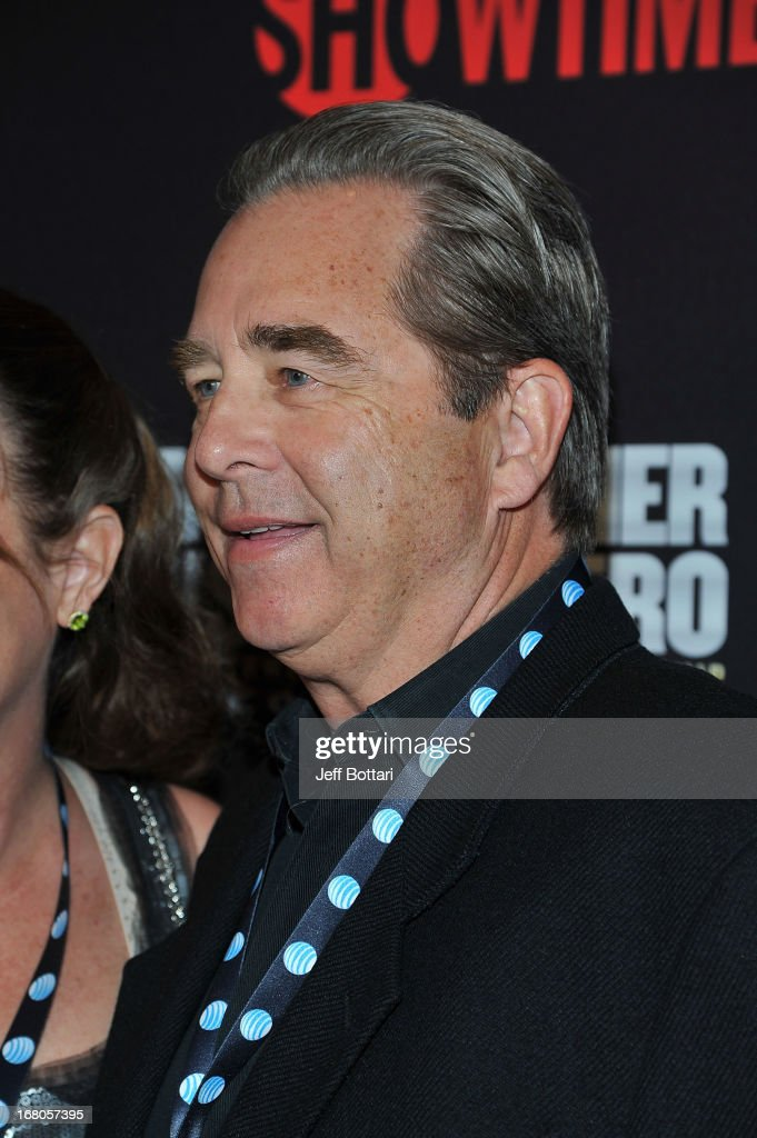 Actor Beau Bridges and wife Wendy arrive at a VIP pre-fight party at the WBC welterweight title fight between Floyd Mayweather Jr. and Robert Guerrero at the MGM Grand Hotel/Casino on May 4, 2013 in Las Vegas, Nevada.