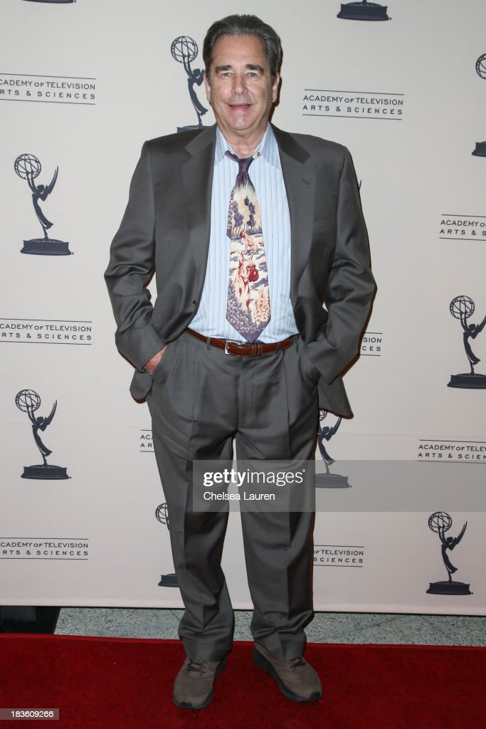 Actor <a gi-track='captionPersonalityLinkClicked' href=/galleries/search?phrase=Beau+Bridges&family=editorial&specificpeople=214546 ng-click='$event.stopPropagation()'>Beau Bridges</a> arrives at 'An Evening Honoring James Burrows' at Academy of Television Arts & Sciences on October 7, 2013 in North Hollywood, California.