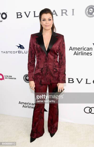 Actor Bellamy Young attends the 25th Annual Elton John AIDS Foundation's Academy Awards Viewing Party at The City of West Hollywood Park on February...