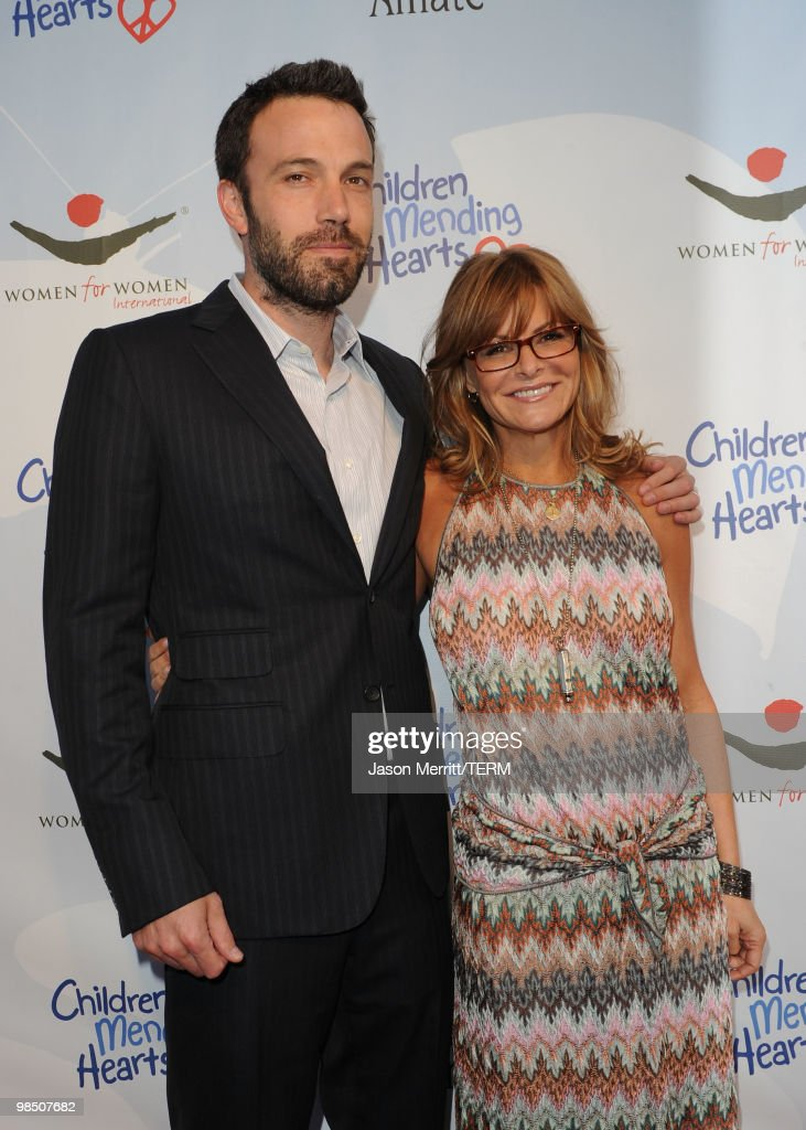 Actor Ben Affleck and founder and Executive Director of Children Mending Hearts Lysa Heslov pose for a portrait at the Children Mending Hearts 3rd Annual 'Peace Please' Gala held at The Music Box at the Fonda Hollywood on April 16, 2010 in Los Angeles, California.