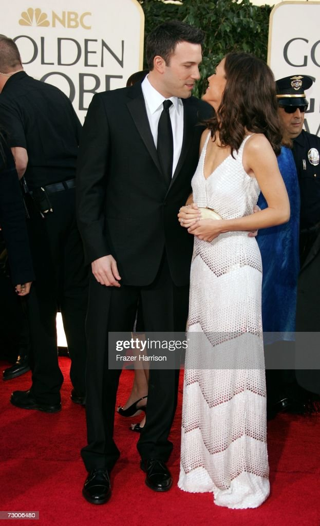 Actor Ben Affleck and Jennifer Garner arrive at the 64th Annual Golden Globe Awards at the Beverly Hilton on January 15 2007 in Beverly Hills...