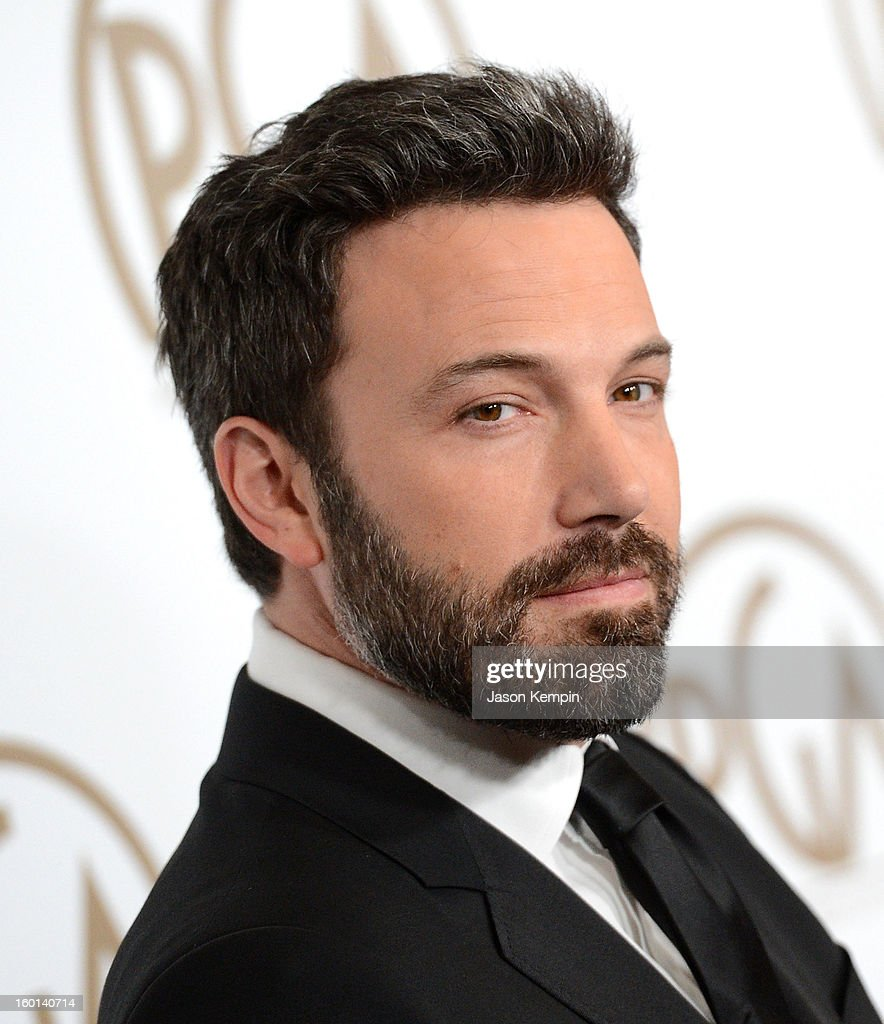 Actor <a gi-track='captionPersonalityLinkClicked' href=/galleries/search?phrase=Ben+Affleck&family=editorial&specificpeople=201856 ng-click='$event.stopPropagation()'>Ben Affleck</a> arrives at the 24th Annual Producers Guild Awards held at The Beverly Hilton Hotel on January 26, 2013 in Beverly Hills, California.